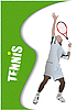 Vector clipart: Poster tennis player