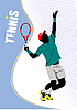 Vector clipart: Poster with tennis player