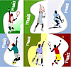 Posters with tennis player | Stock Vector Graphics