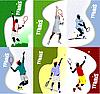 Векторный клипарт: Постеры с теннисистами