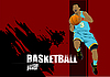 Vector clipart: Basketball player poster