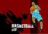 Векторный клипарт: постер с баскетболистом