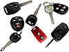 Vector clipart: Car keys with remote control