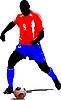Vektor Cliparts: Fußballspieler