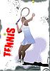 Vector clipart: Tennis player poster