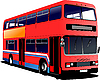 Vector clipart: London double Decker red bus.