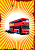 Vector clipart: Double Decker red bus.