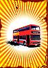 Векторный клипарт: Double Decker красный автобус.