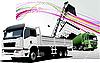 Векторный клипарт: Два грузовика на дороге