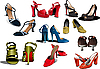 Vector clipart: Fashion woman shoes.