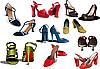 Векторный клипарт: Обувь мода женщина.