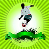 Poster with soccer player
