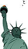 Vector clipart: Statue of Liberty in New York.