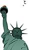 Векторный клипарт: Статуя Свободы в Нью-Йорке.