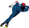 Векторный клипарт: Конькобежный спорт.