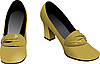Vector clipart: Old fashion woman shoes.
