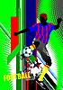Векторный клипарт: Плакат с футболистом
