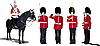 Vector clipart: Beefeaters. England guards.