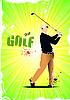Vektor Cliparts: Poster mit Golf-Spieler