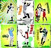 Six sport posters | Stock Vector Graphics