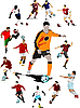Vector clipart: Soccer players