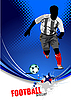 Vector clipart: Poster with soccer player