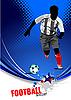 Vektor Cliparts: Poster mit Fußballspieler