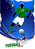 Векторный клипарт: постер с футболистом