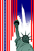 Vector clipart: Stylized American flag