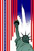 Stilisierte amerikanische Flagge