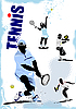 Tennis players poster | Stock Illustration