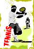 Векторный клипарт: постер с теннисистами