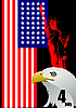 Vector clipart: 4th July