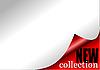 Векторный клипарт: Бумага с загнутым уголком - новая коллекция
