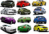 Vector clipart: Set of cars