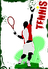 Векторный клипарт: постер с теннисистом