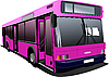 Vector clipart: Pink city bus
