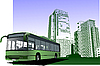 urban background with city bus
