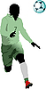 Vector clipart: Soccer player