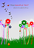 Vector clipart: Summer green background