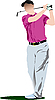 Vector clipart: Golf player