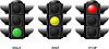 Vector clipart: Set of traffic lights