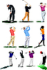 Vector clipart: Golf players