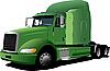 Vector clipart: green truck