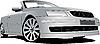Vector clipart: Silver cabriolet