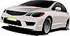 Vector clipart: Grey car hatchback