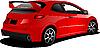 Vector clipart: Red car hatchback