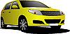 Yellow car sedan