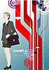 Plakat mit niedlichen Business-Frau
