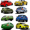 Eight cars | Stock Vector Graphics